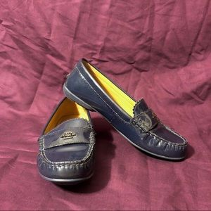 Coach Odette Blue Patent Leather Loafer